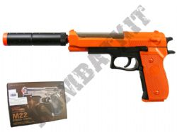 M22 Airsoft BB Gun Black and Orange